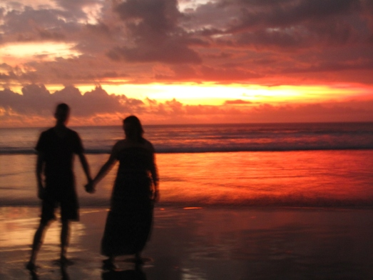 Bali (Sunset on the beach - see a theme here?)