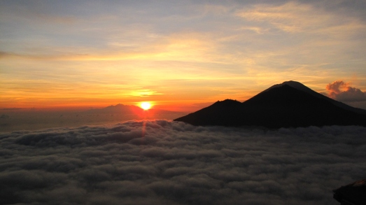 Bali (Sunrise from the peak of Mt. Batur)